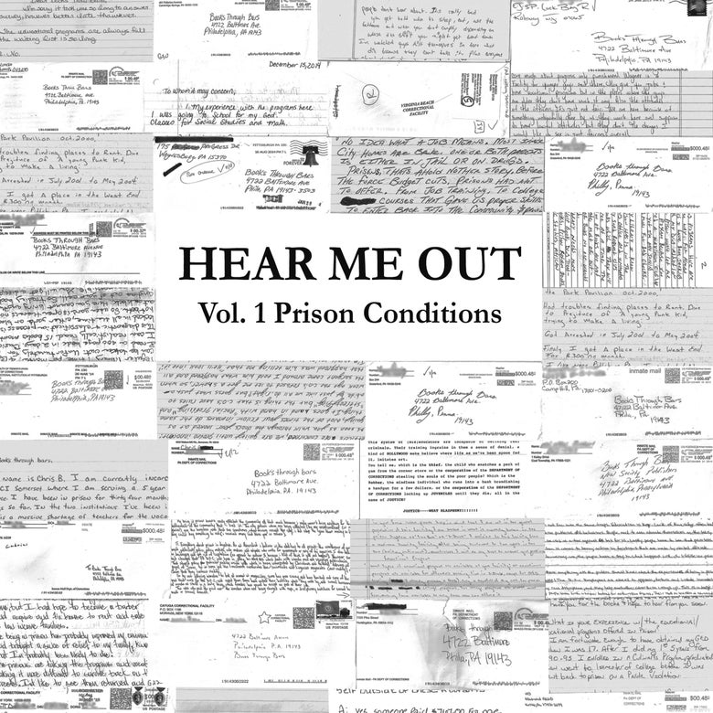 """Image of HEAR ME OUT Zine: Vol.1 Prison Conditions (7""""x8.5"""", 25 pages)"""