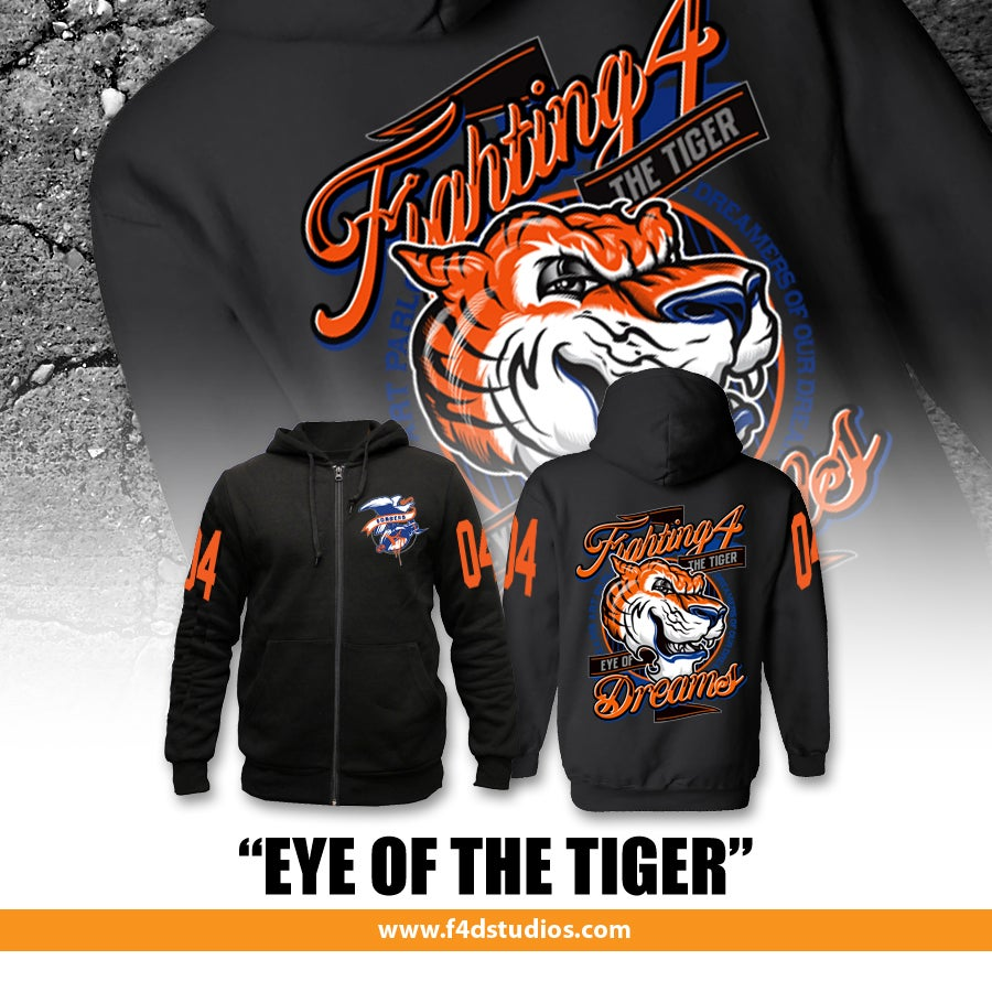 "Image of ""Eye of the Tiger"" Unisex Zip Hoodie"