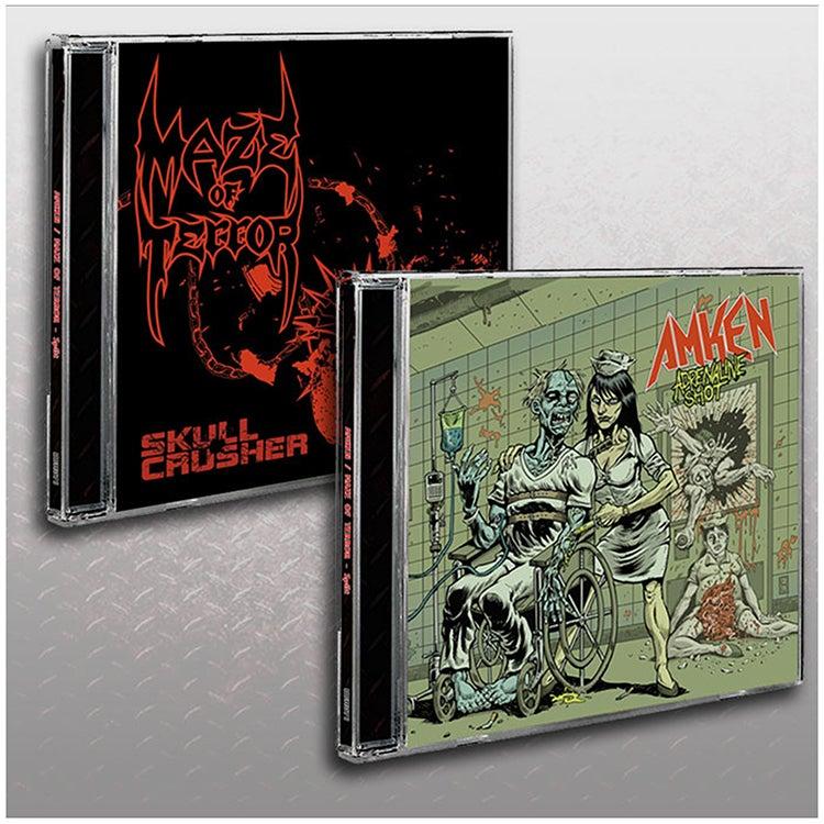 Image of AMKEN / MAZE OF TERROR - SPLIT CD (2015) JEWEL CASE