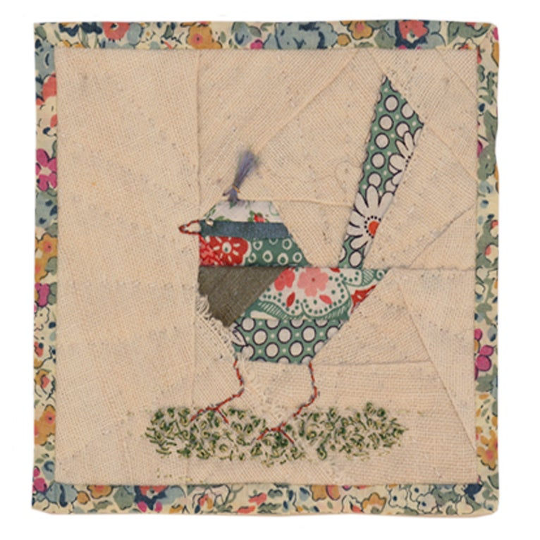 Image of Quilted Bird Wall Hanging