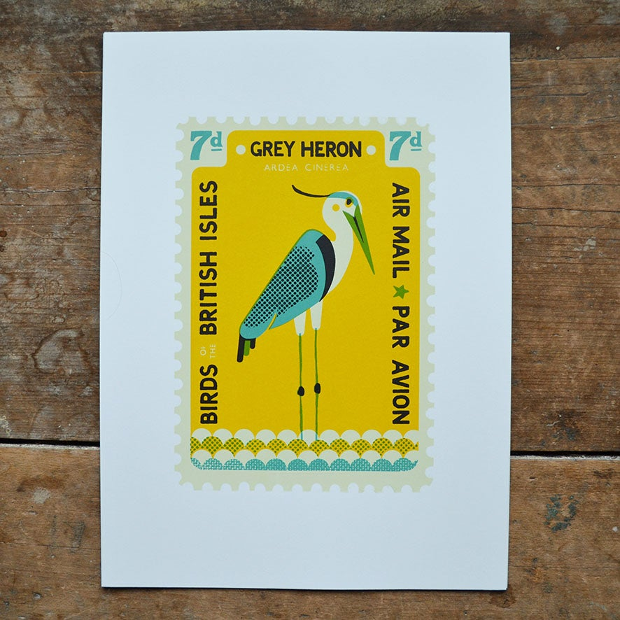 Image of Heron Stamp