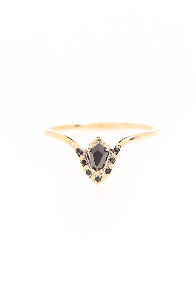 Image of BLACK DIAMOND PHARAOH RING