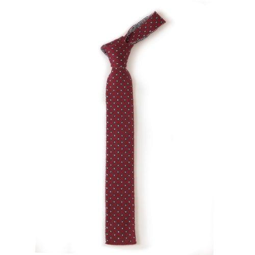 Image of Flee Dots Tie in Wine x Navy