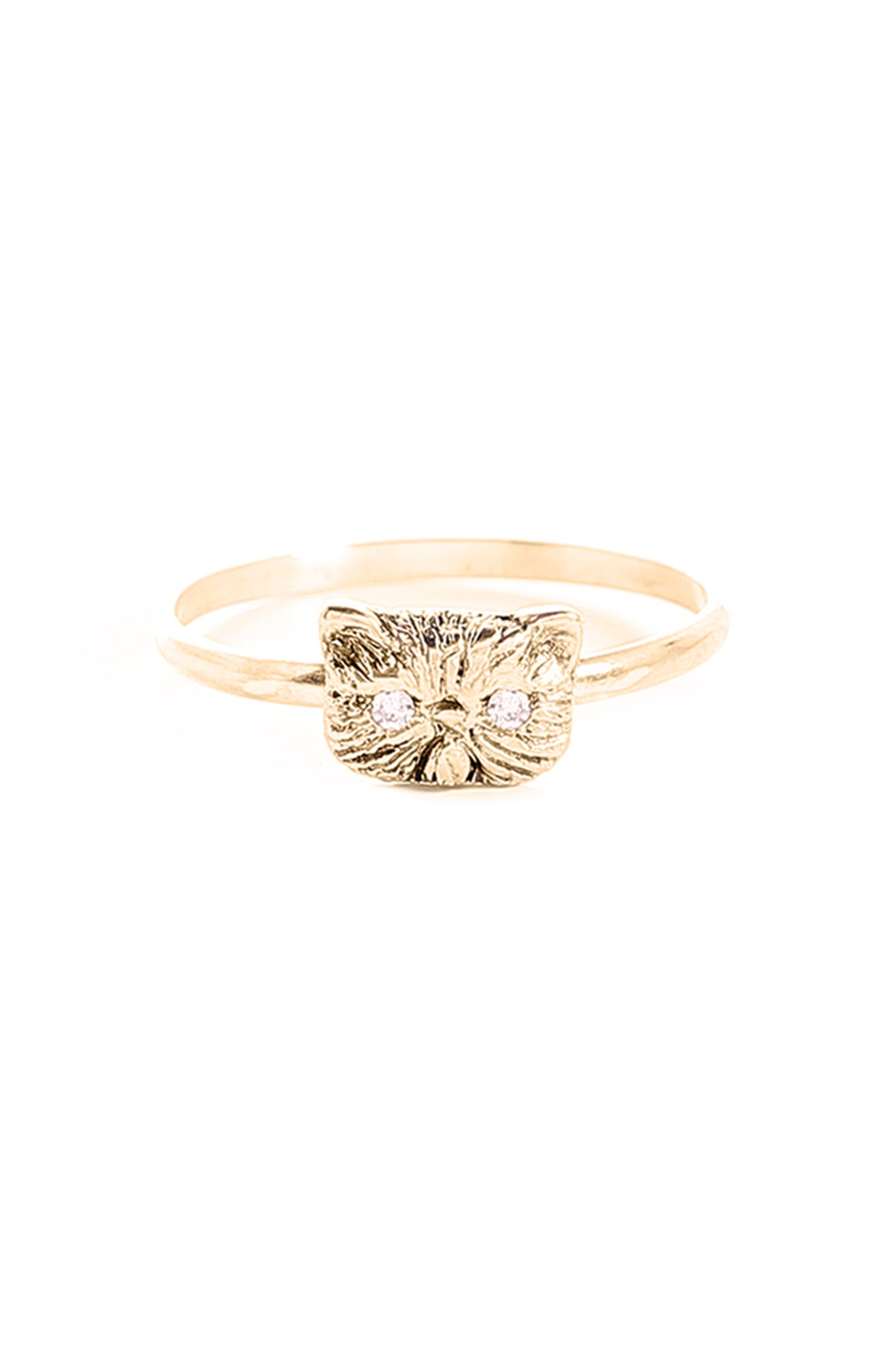 Image of PONYO CAT RING WITH DIAMOND EYES
