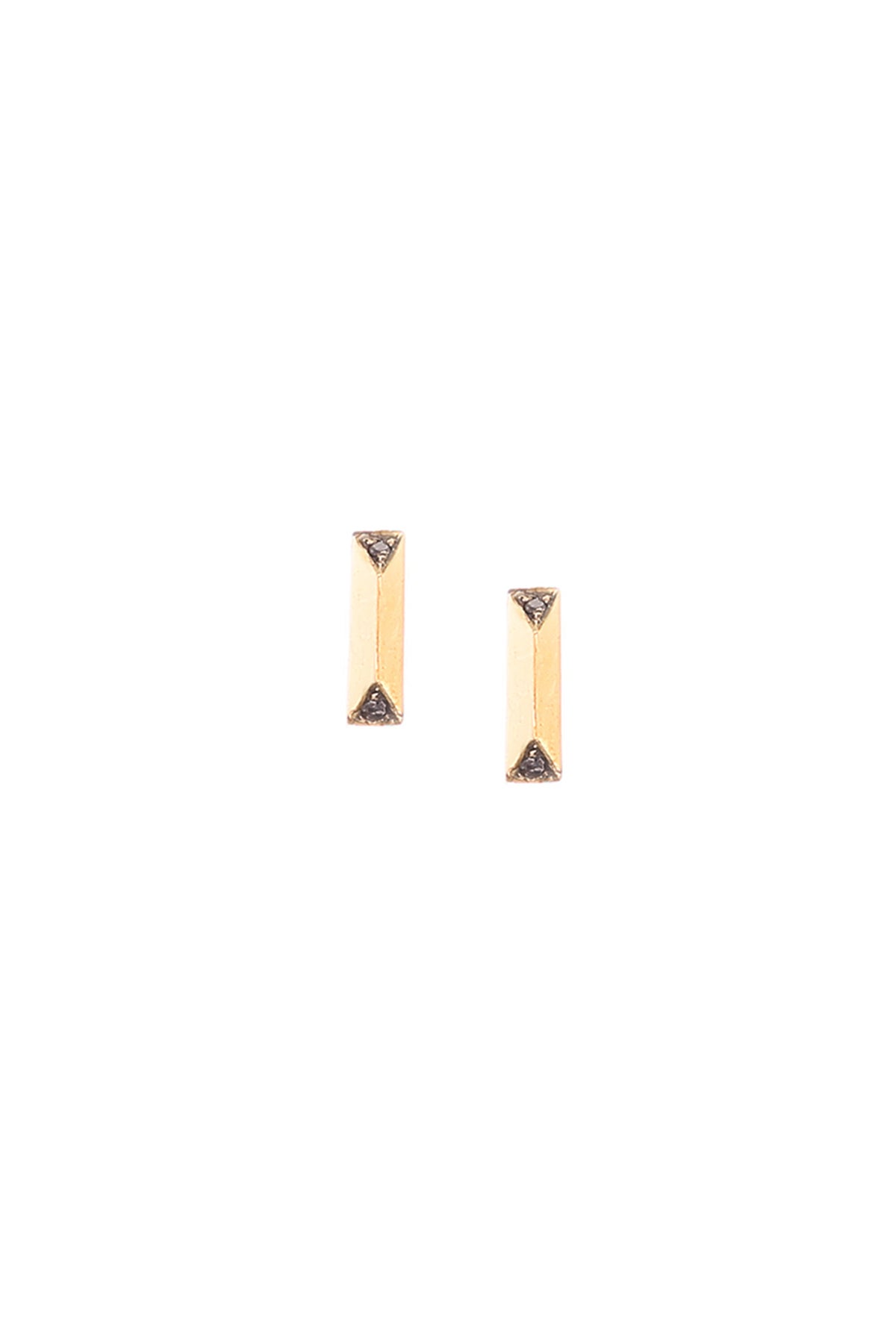 Image of BLACK DIAMOND PRISM STUDS- SMALL