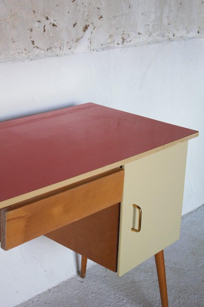 Image of Bureau pieds compas - Vintage