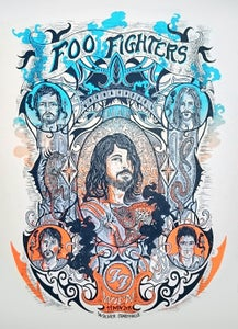 Image of FOO FIGHTERS (Vienne /2015) screenprinted poster (A.P. edition)