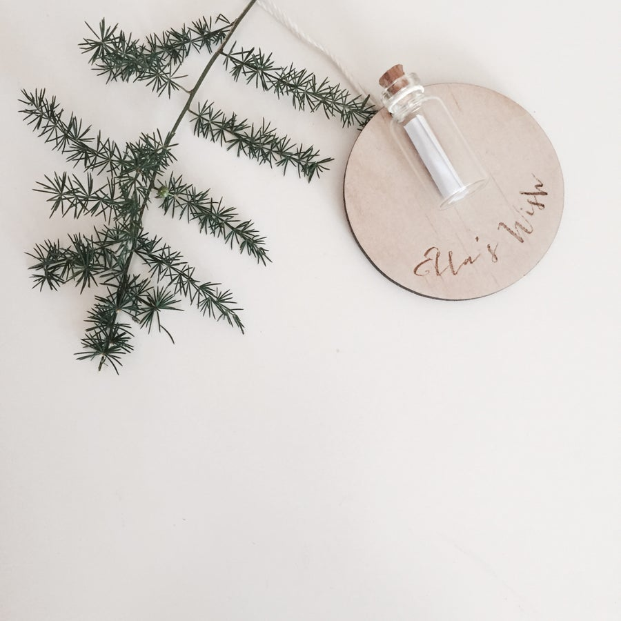Image of PERSONALISED WISH ORNAMENT