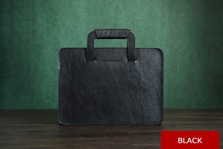 Image of Custom Handmade Italian Vegetable Tanned Leather Briefcase, Messenger Bag, Men's Handbag D001