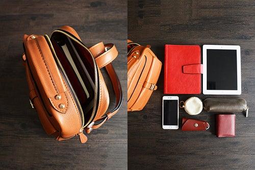 Image of Custom Handmade Vegetable Tanned Leather Backpack, Shoulder Bag, Satchel Bag D005