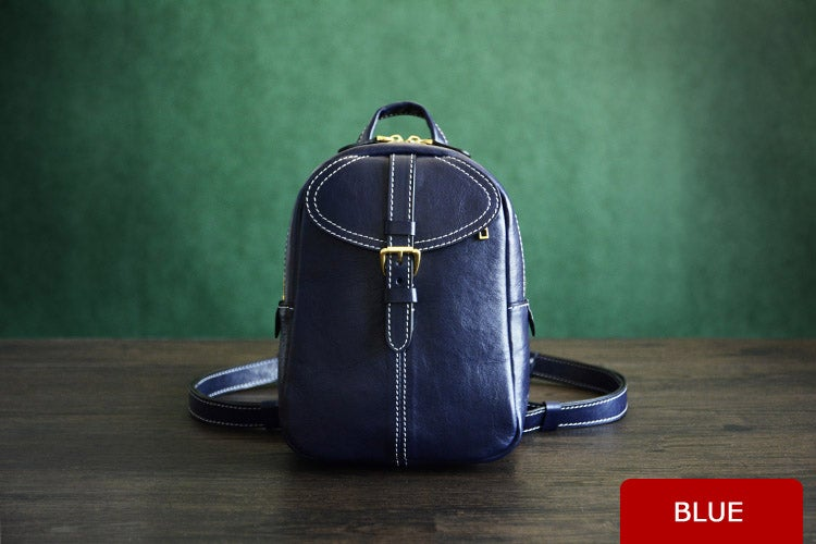 Image of Custom Handmade Vegetable Tanned Leather Backpack, Shoulder Bag, Satchel Bag D009