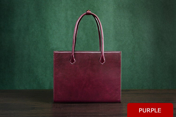 Image of Personalized Handmade Italian Vegetable Tanned Leather Tote Bag, Shoulder Bag, Lady Handbag D010