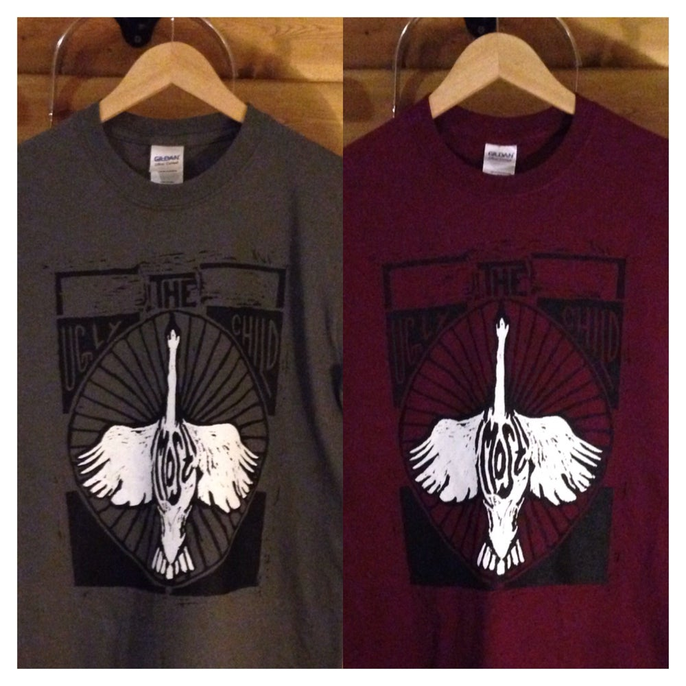 Image of Men's Swan Tee - Maroon/Charcoal