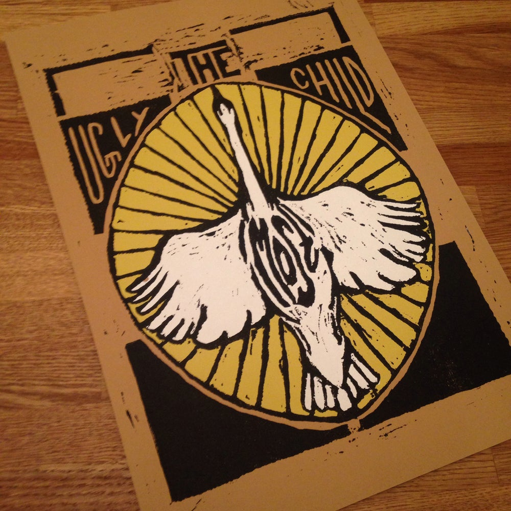 Image of Screen Printed Swan Poster