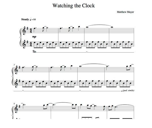 Image of New - Watching the Clock Sheet Music