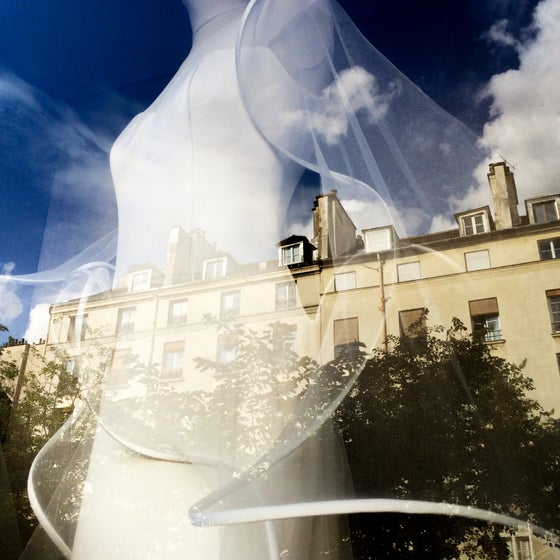 Image of A Long White Dress, Paris 2014