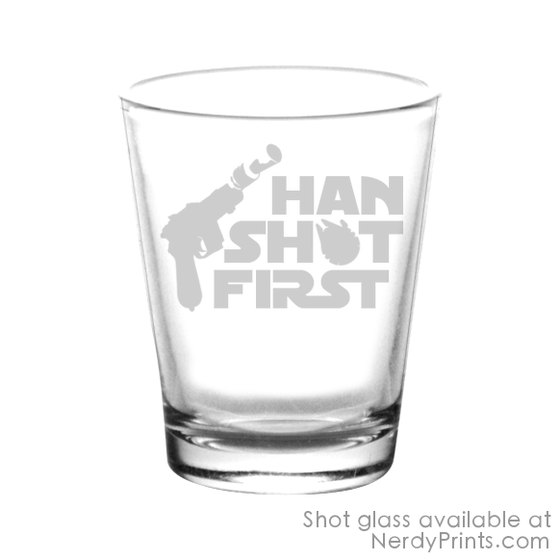 Image of Han Shot First Shot Glass - 2 set