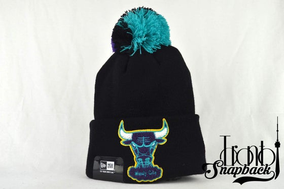Image of CHICAGO BULLS NBA AQUA HOOK KNIT NEW ERA BEANIE