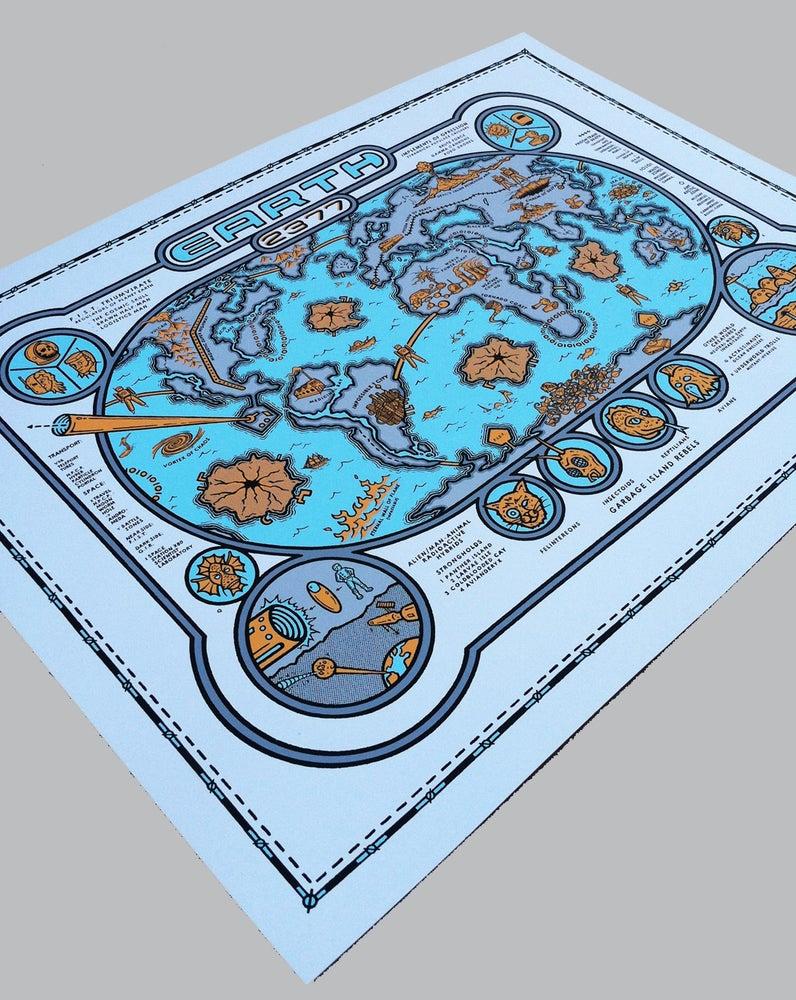 Image of Earth 2377 Map Print - b/o