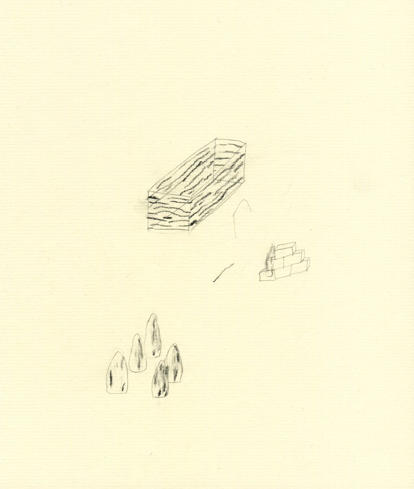 Image of blind walking - original drawing
