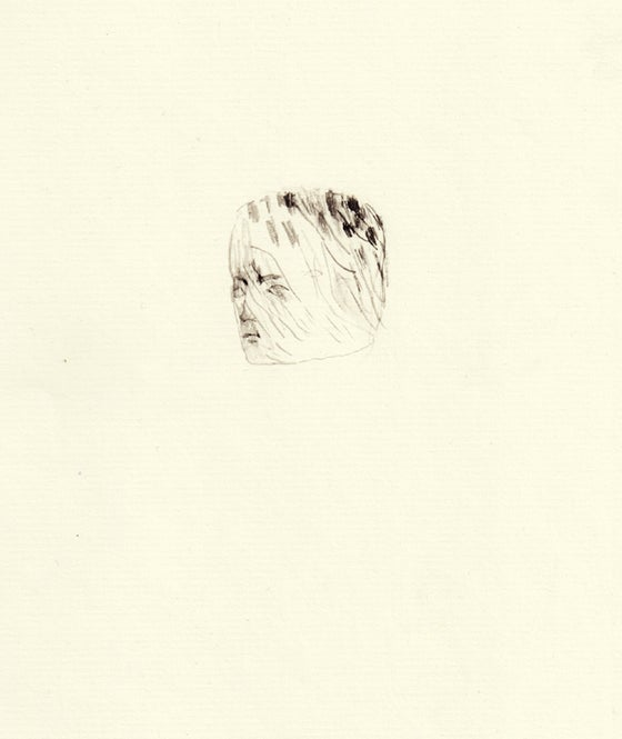 Image of boy drawing no. II - original drawing