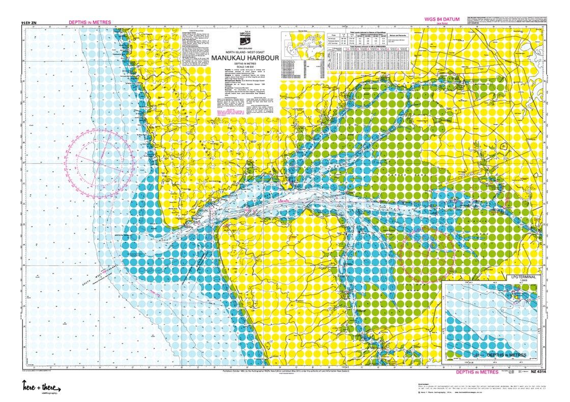 Image of Manukau Harbour - Yellow Polka