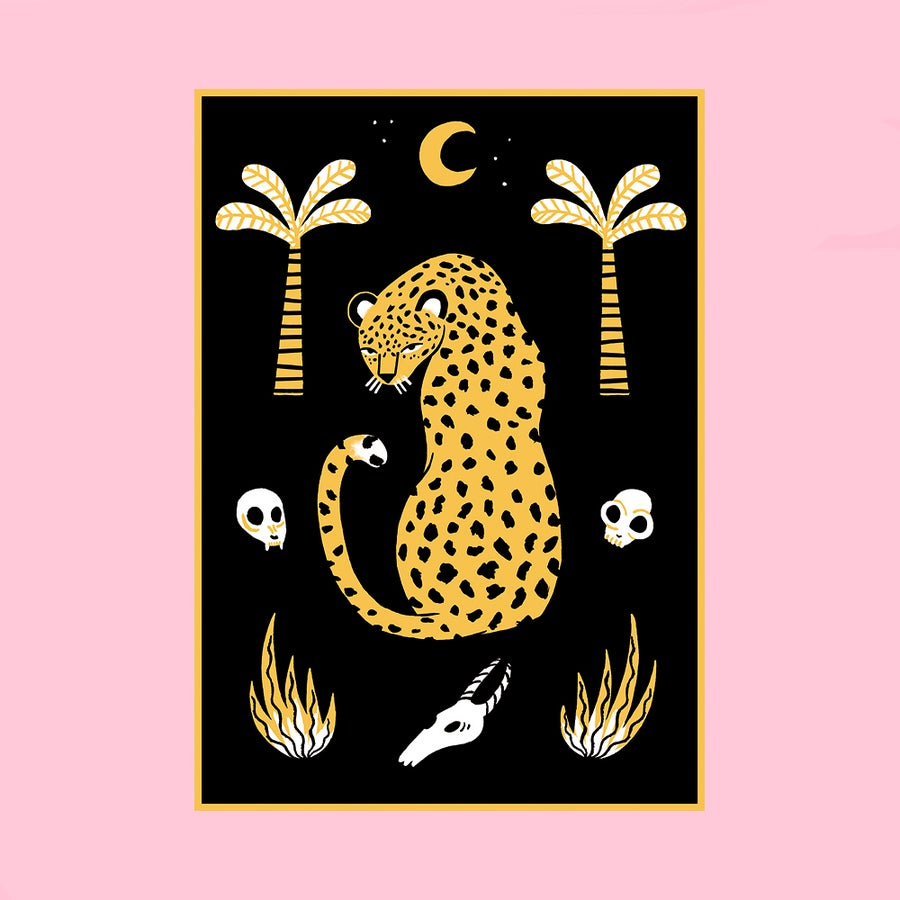 Image of Leopard Screenprint