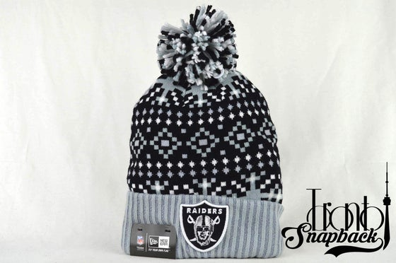 Image of OAKLAND RAIDERS NFL LINEUP KNIT NEW ERA BEANIE