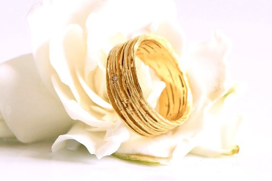 Image of Sentiers, Ring in Fairmined gold 18k with diamond