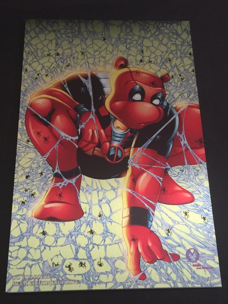 Image of Do You Pooh? #1 Todd McFarlane's Spider-Man Homage Metal Edition Variant by Marat Mychaels