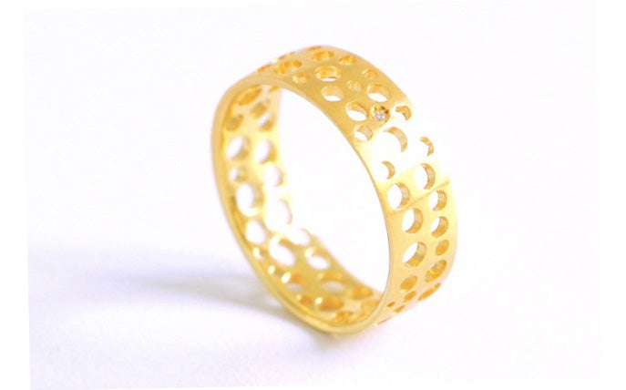 Image of Écume de mer, Ring in Fairmined gold 18k