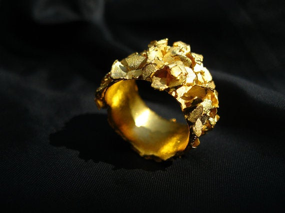 Image of Nako, Ring in Fairmined gold with brown diamond