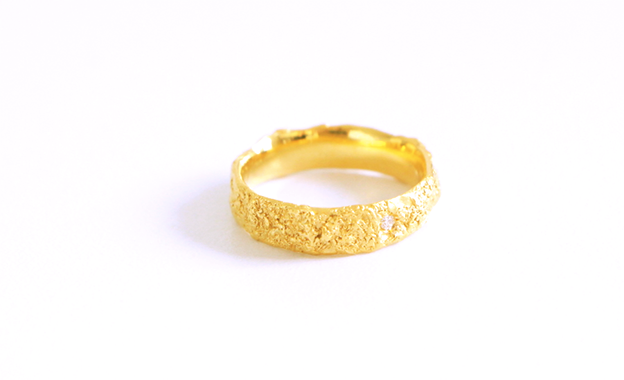 Image of Le sable chaud, Ring in Fairmined gold 18k with diamond