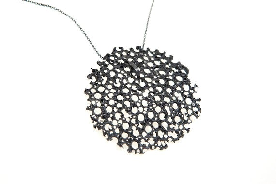 Image of Terre de feu, Pendant in Fairmined silver oxidised