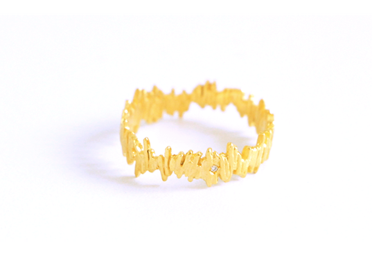 Image of Guermante, Ring in Fairmined yellow gold 18k with diamond
