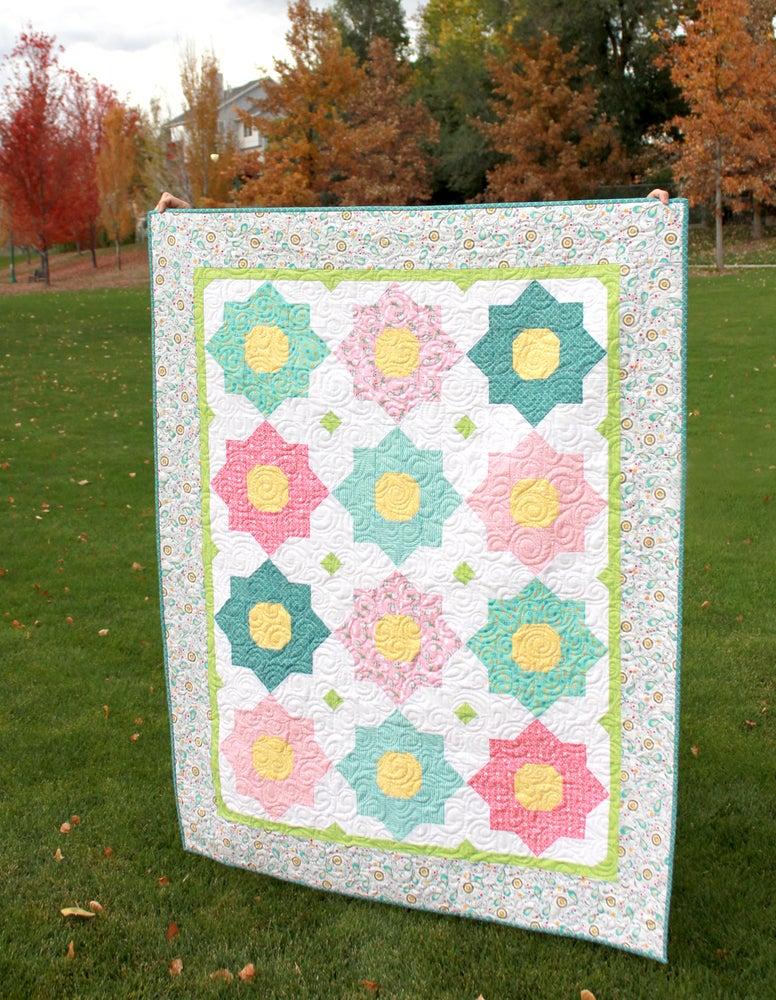 A Bright Corner Petunia Quilt Pattern Pdf Version