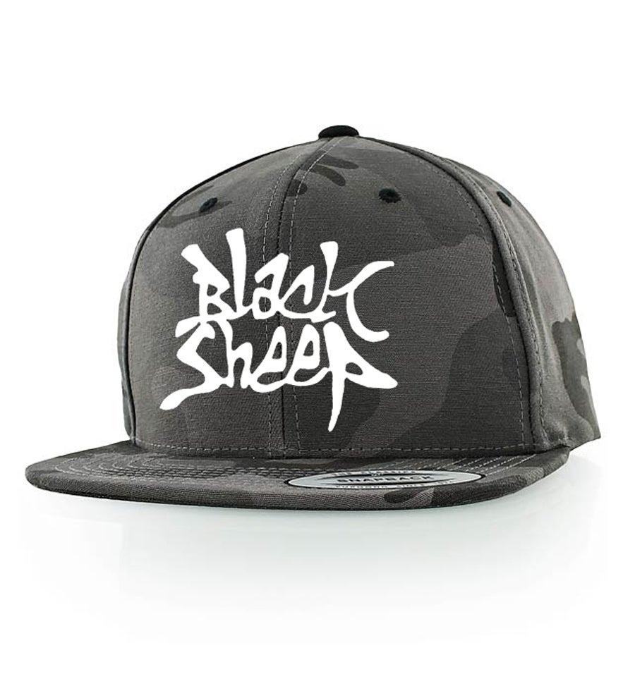 Image of CAMO SNAPBACK (BLACK/GREY)