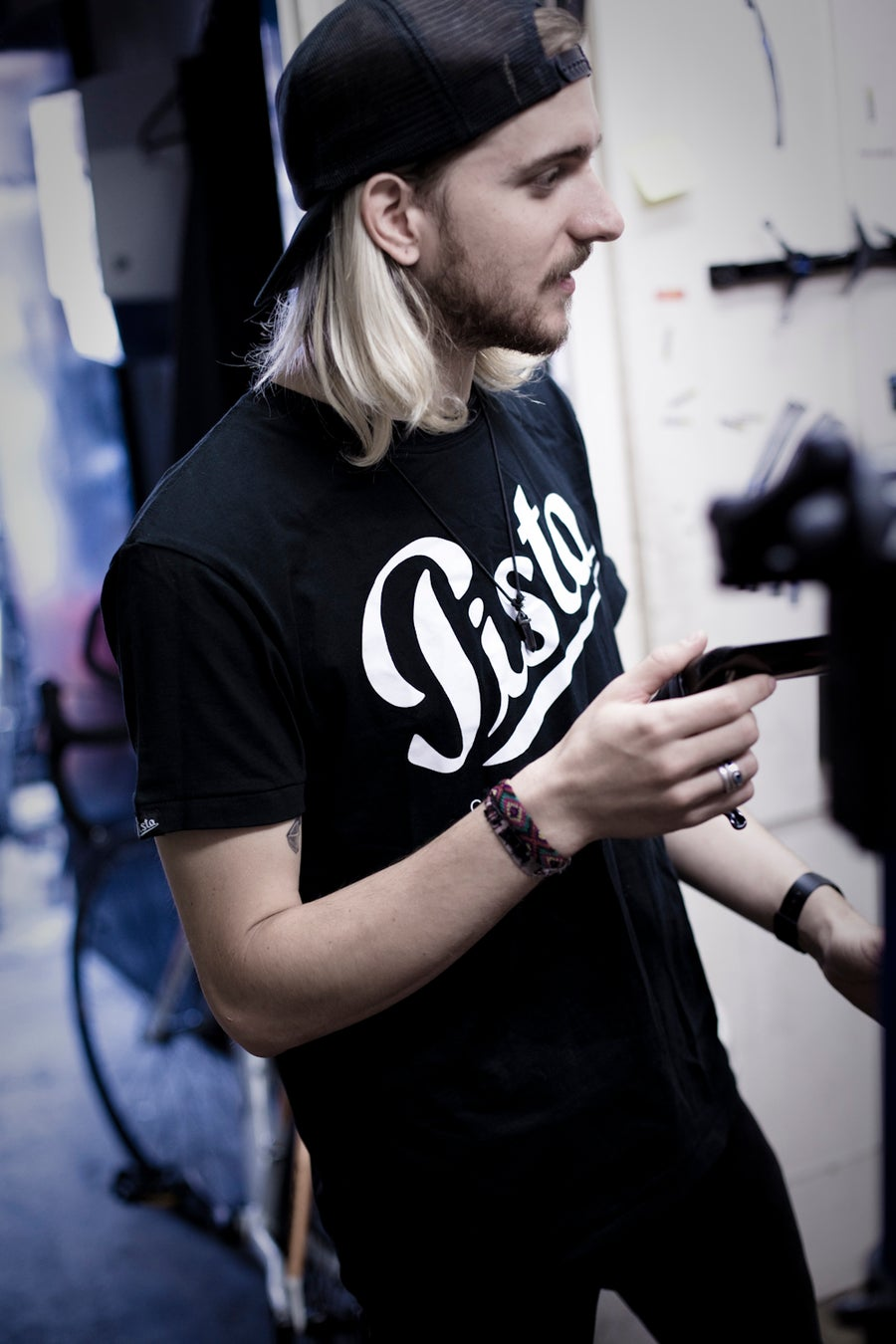 Image of PISTA COLLECTIVE LOGO TEE - BLACK