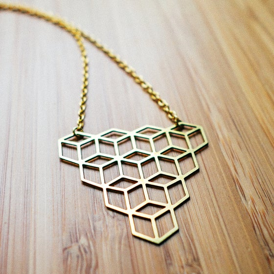 Image of Cubes Charm Necklace