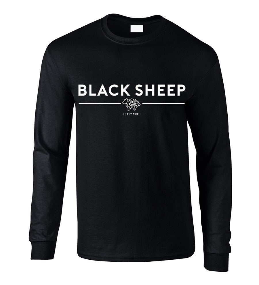Image of TRADEMARK LONG-SLEEVE TEE (BLACK)