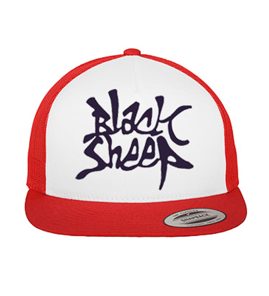 Image of FONT TRUCKER SNAPBACK (RED/WHITE/NAVY)