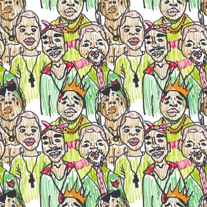 Image of Rapping Paper Satin Gift Wrap (faces)