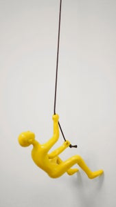 Image of CLIMBING MAN - YELLOW
