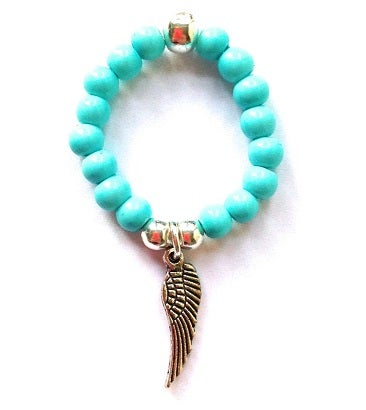 Image of Kool Jewels Blue Stackable Charm Ring - Wing