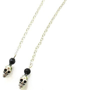 Image of Hanging Skull Earrings