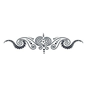 Image of Henna-Style Sweet Small Tattoo (5.5 Inch)