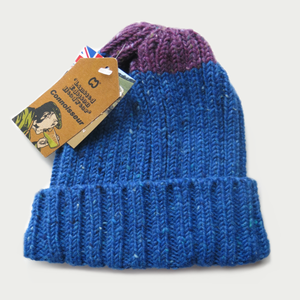 Image of McMURPHY HAT [ROYAL WITH PURPLE]
