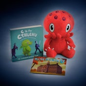 Image of Red Cthulhu w/C is For Cthulhu Board Book - SIGNED!