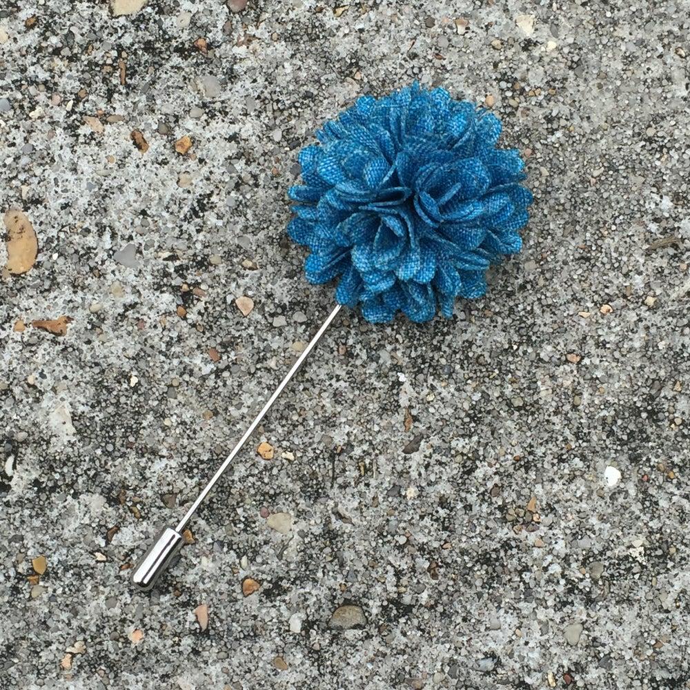 Image of Aqua Blossom Lapel Pin