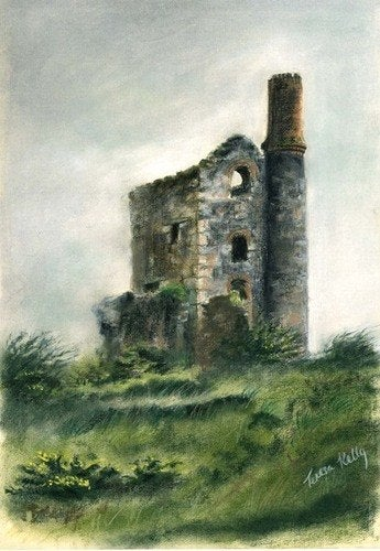 Image of Tin Mine (original SOLD) print